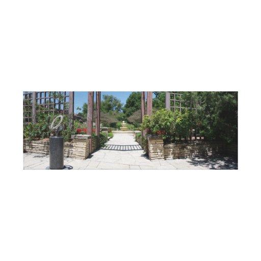 Jardín shakesperiano impresión en lona