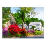 Jardín suburbano de la azalea postal