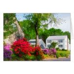 Jardín suburbano de la azalea tarjeta