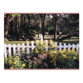 jardín tarjeta postal