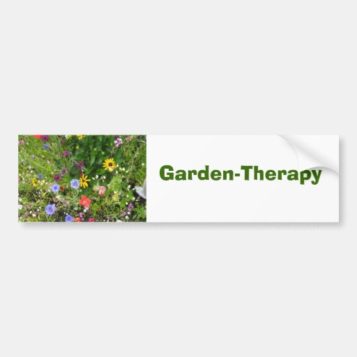 Jardín-Terapia Etiqueta De Parachoque