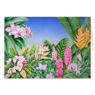 Jardín tropical tarjeton