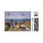 Jardin un Sainte-Adresse de Claude Monet Timbre Postal