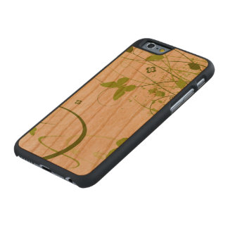 Jardín verde del verano funda de iPhone 6 carved® de cerezo