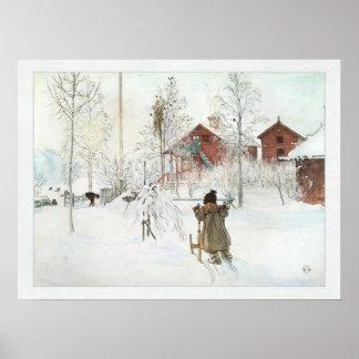Jardín y casa Carl Larsson del lavado Impresiones