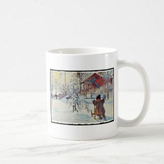 Jardín y casa del lavado taza