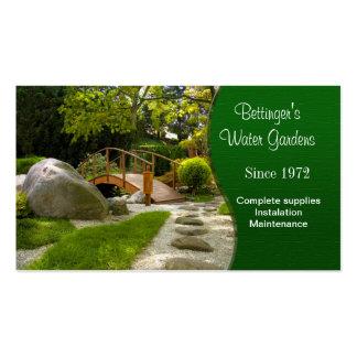 Jardín y el ajardinar del agua tarjetas de visita