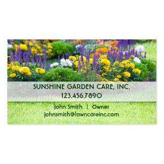 Jardín y tarjeta de visita del paisaje