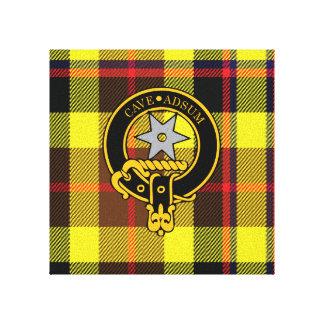 Jardine Scottish Crest and Tartan Canvas print