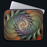 "Jardinere Computer Sleeve<br><div class=""desc"">Copyright &#169; 2008,  Susan Wallace. A rainbow of textured petals converge in a floral spiral.</div>"