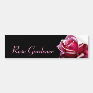 Jardinero color de rosa pegatina para auto