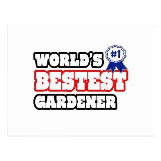 Jardinero de Bestest del mundo Tarjeta Postal