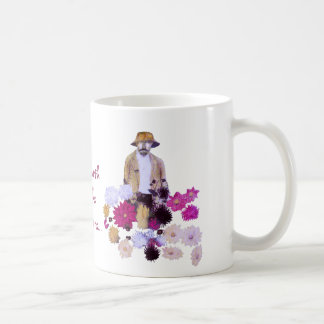Jardinero de la dalia taza de café