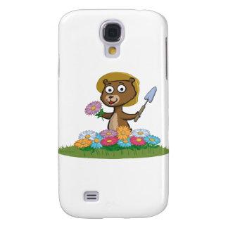Jardinero de la flor del oso de peluche samsung galaxy s4 cover