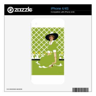 Jardinero de la primavera skins para eliPhone 4