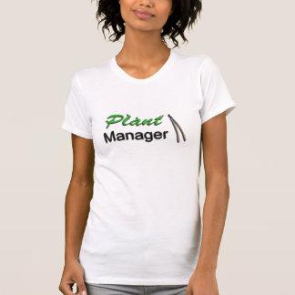 Jardinero del director de planta camiseta