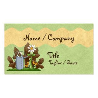 Jardinero del país tarjetas de visita