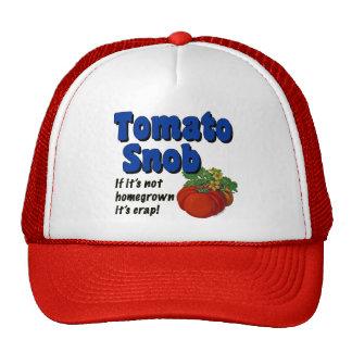 Jardinero del snob del tomate que dice el gorra