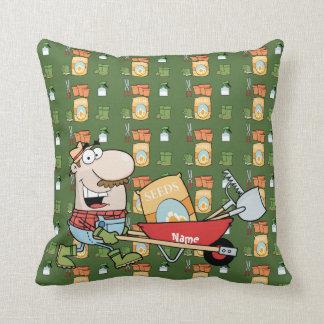 Jardinero divertido de los personalizables del almohada