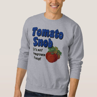 Jardinero divertido del snob del tomate que dice sudadera