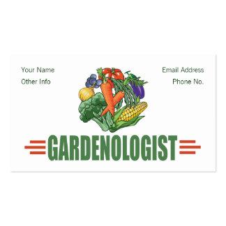 Jardinero divertido tarjetas de visita
