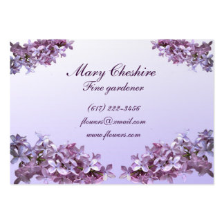 Jardinero elegante de las lilas tarjetas de visita grandes