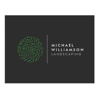 Jardinero moderno que ajardina el logotipo postales