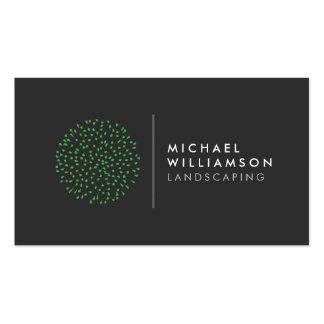 Jardinero moderno que ajardina el logotipo tarjetas de visita