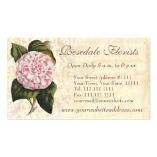 Jardinero o florista elegante de la camelia del vi tarjeta de visita