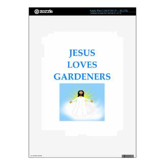 JARDINERO PEGATINAS SKINS PARA iPad 3