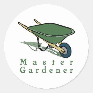 Jardinero principal pegatinas redondas
