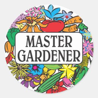 Jardinero principal etiqueta redonda