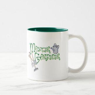 Jardinero principal tazas de café