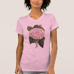 Jardinero rosado del bonito de Camelia del vintage Camisas