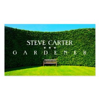 Jardinero, tarjeta de visita del florista