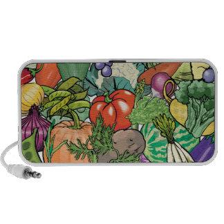 Jardinero vegetal laptop altavoz