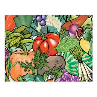 Jardinero vegetal postales