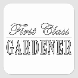 Jardineros elegantes: Jardinero de la primera Pegatina Cuadrada