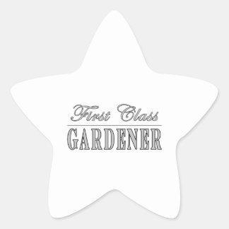 Jardineros elegantes: Jardinero de la primera Pegatina En Forma De Estrella