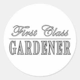 Jardineros elegantes: Jardinero de la primera Pegatina Redonda
