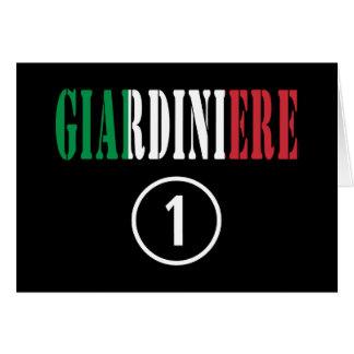 Jardineros italianos: Uno de Giardiniere Numero Tarjeta Pequeña