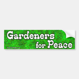 Jardineros para la paz pegatina para auto