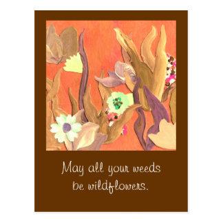 jardineros que saludan postales