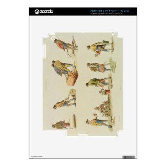 """Jardineros, vol.2, placa 97, del """"microcosmos"""", pr pegatinas skins para iPad 3"""