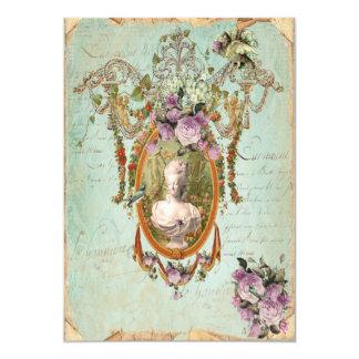 """Jardines antiguos de Marie Antonieta Versalles 5 x Invitación 5"""" X 7"""""""