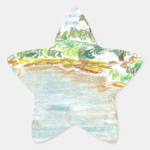 Jardines botánicos en la Florida Pegatina En Forma De Estrella