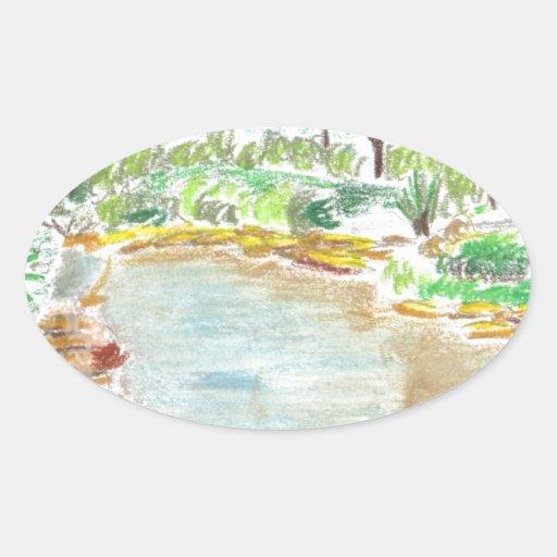 Jardines botánicos en la Florida Pegatina Ovalada