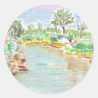 Jardines botánicos en la Florida Pegatina Redonda