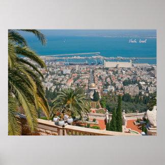 Jardines de Bahá'í de Haifa Póster