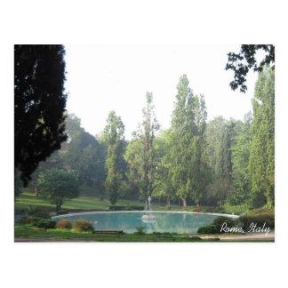 Jardines de Borghese, Roma, Italia Postales